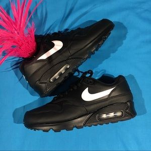 Nike Air Max 90/1 Black White Swoosh New Sneakers